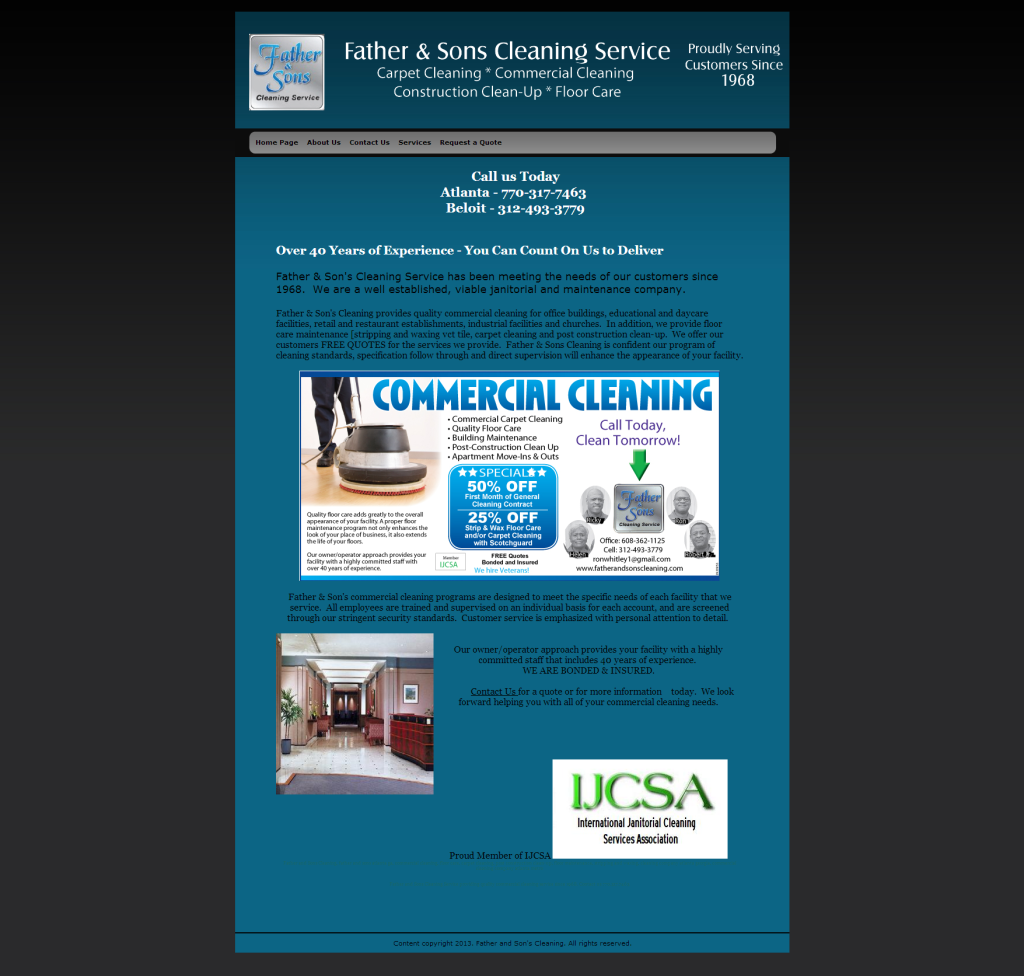 Father and Sons Cleaning Service Revised Site